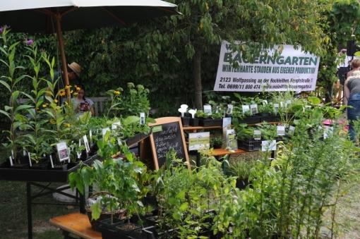 Regionale Direktvermarkter sind immer Vielgefragt am Natur im Garten Fest.